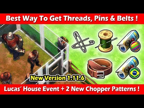 Best Way To Get Threads, Pins & Belts For Lucas' House! Last Day On Earth Survival