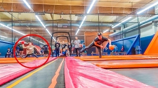 DOING YOUR DARES // TRAMPOLINE PARK!