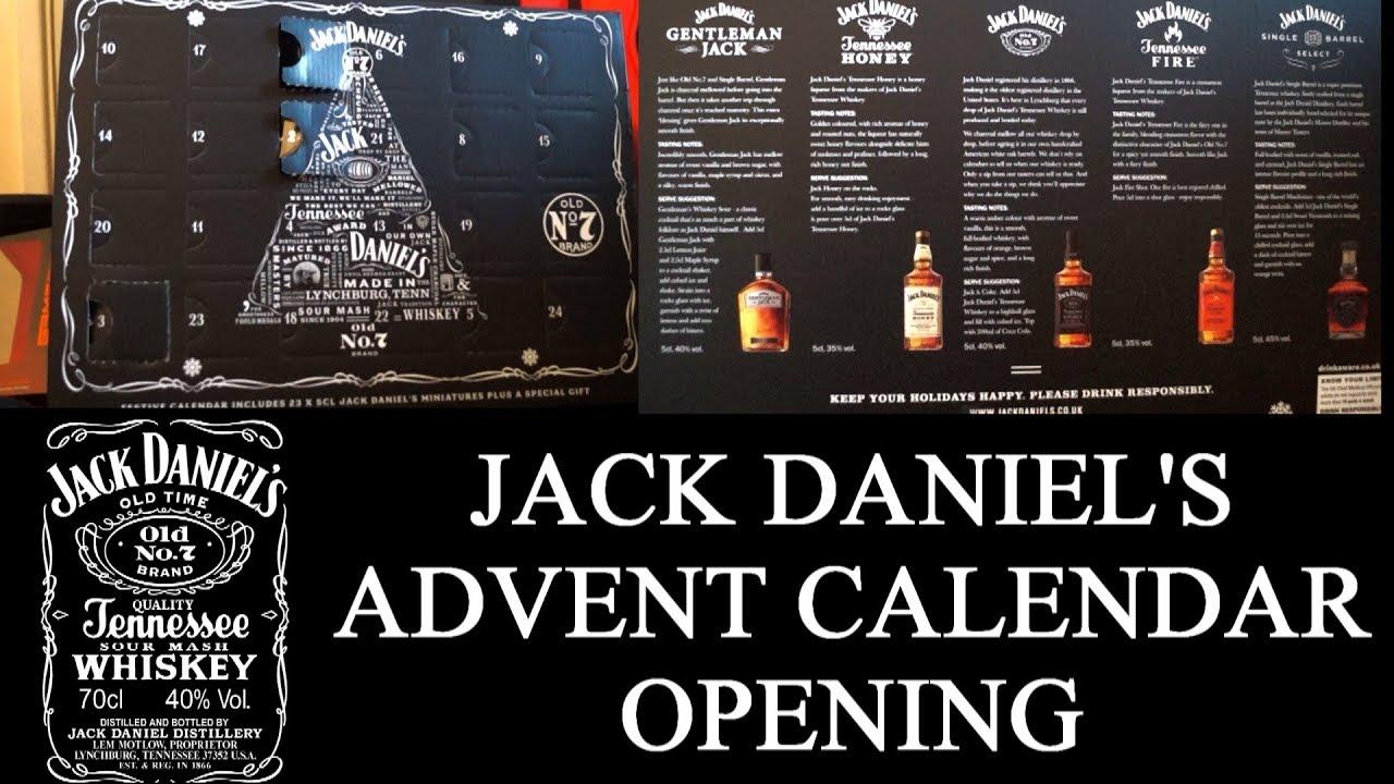 Jack Daniels Advent Calendar.Opening Jack Daniel S Advent Calendar