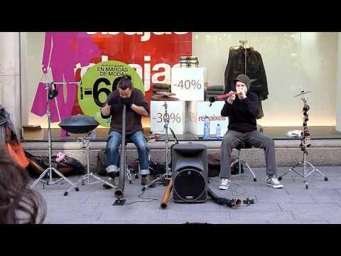 Didgeridoo Artists Barcelona Jan. 2012