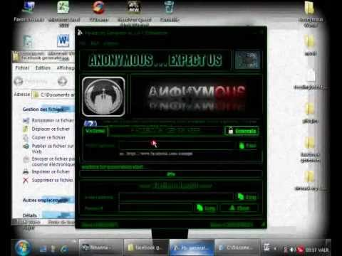 Facebook Generater [v 1.3.0.4] - Anonymous Operation Facebook that's just the beginning