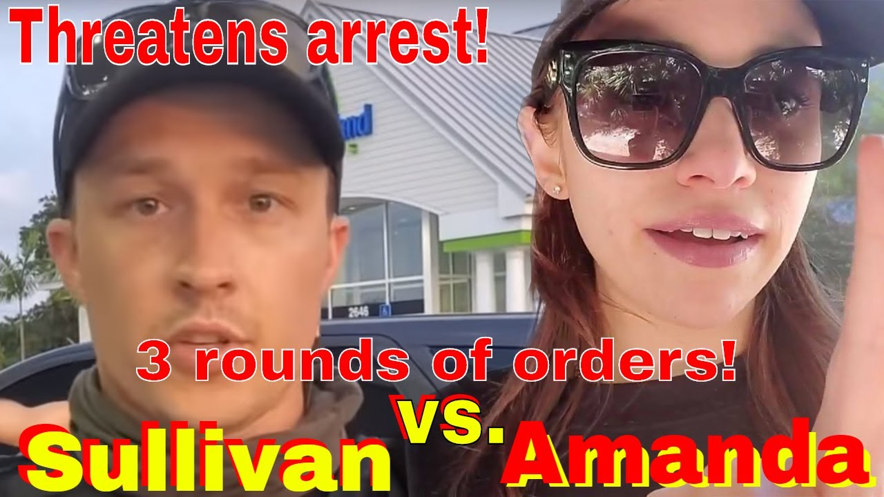 Deputy Sullivan gets in her face! She's threatened arrest; pushes back first amendment fail!