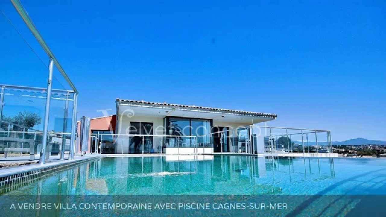 A vendre villa contemporaine avec piscine cagnes sur mer for Piscine cagnes sur mer