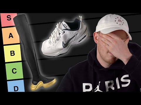 TIER LIST of the WORST Sneakers of 2019 So Far