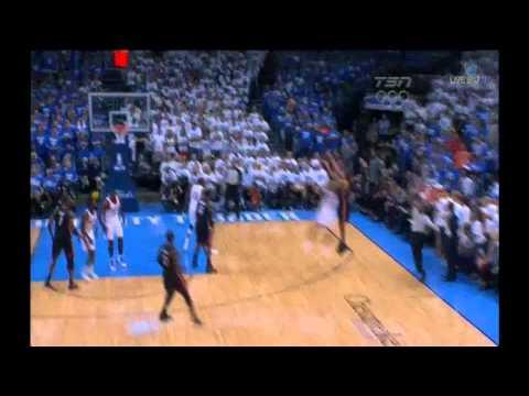 Shane Battier 17 points (5 3 pointers) vs Oklahoma city Thunder full highlights GM2 2012 NBA FINALS