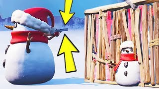 How To HACK a Snowman in Fortnite...