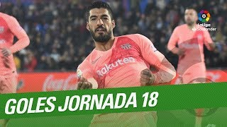 Todos los goles de la Jornada 18 de LaLiga Santander 2018/2019