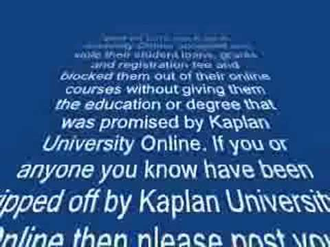 Kaplan University Online Is A Rip Off  Youtube. The Best Logo Design Company. Portable Storage Milwaukee Free Lasik Surgery. Application Onboarding Process. Henderson Cable Providers Crna Schools Online. Kitchen Remodeling Westchester Ny. Best Sales On Mattresses Home Loans San Diego. Organizational Psychology Degrees. What Is Software As A Service In Cloud Computing