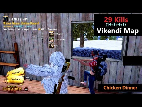 [Hindi] PUBG Mobile | '29 Kills' In Squad & Chicken Dinner With Subs