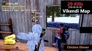 """[Hindi] PUBG Mobile   """"29 Kills"""" In Squad & Chicken Dinner With Subs"""