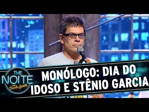 The Noite (01/10/15) - Monólogo: Sobre O Dia Do Idoso E Foto De Stênio Garcia