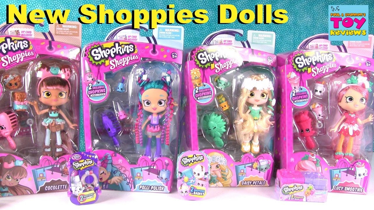 New Shopkins Shoppies Dolls Blind Bag Opening Cocolette