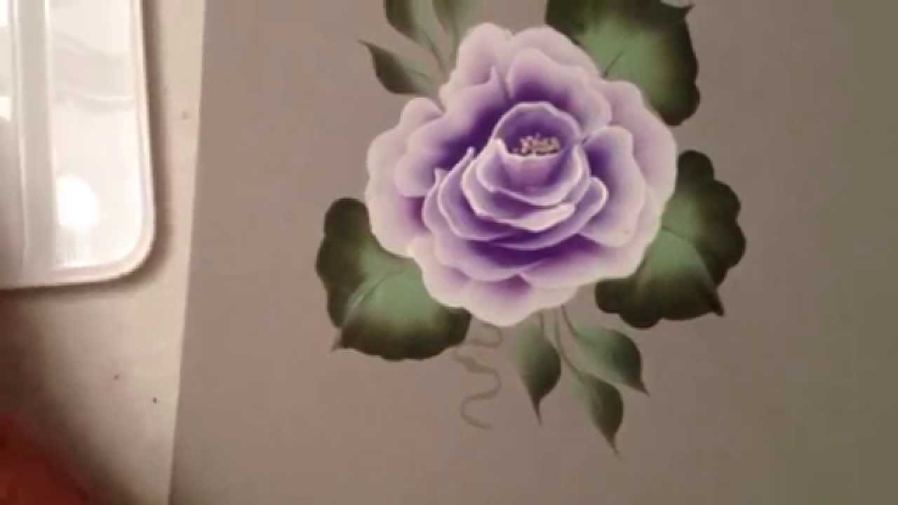 One stroke how to paint a rose by april numamoto youtube for How to paint a rose watercolor
