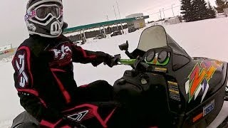 CK Loses Her Bearings - Fun Snowmobile Ride - Poker Derby Feb. 17 2013