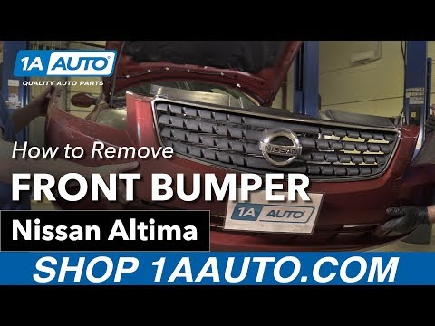 How to Remove Install Front Bumper 05 Nissan Altima