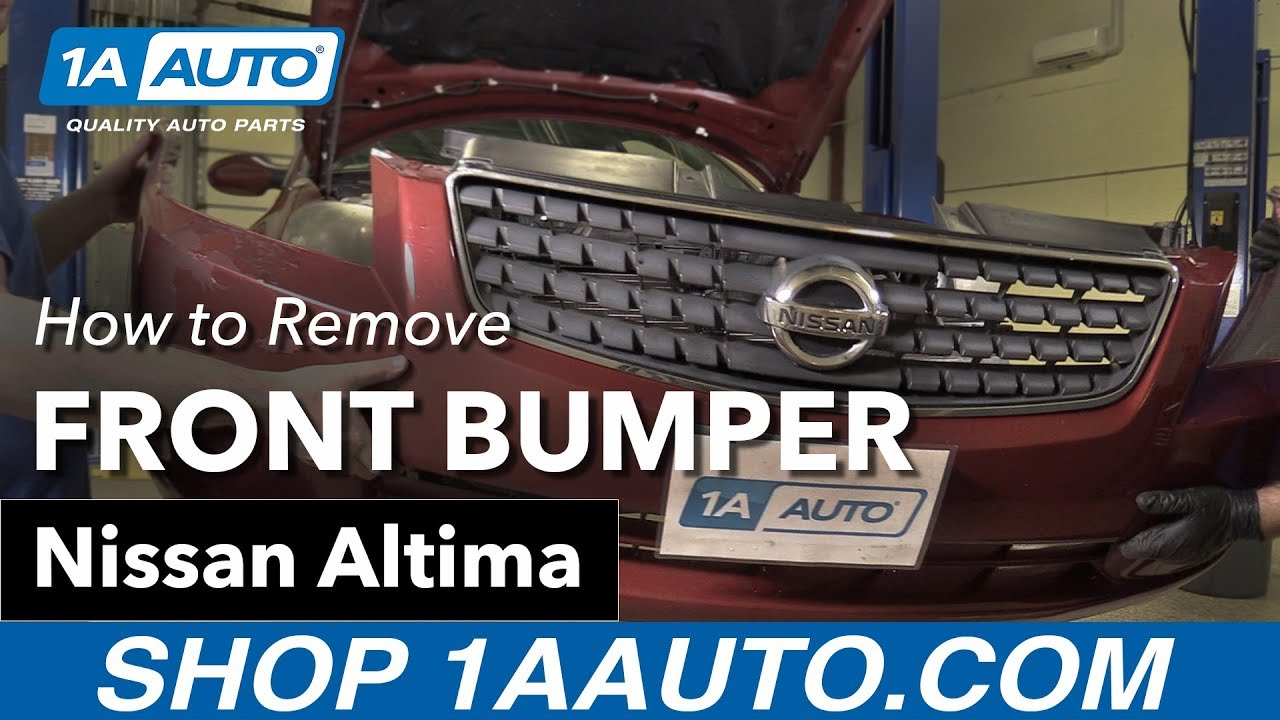 How to Remove Front Bumper 02-06 Nissan Altima