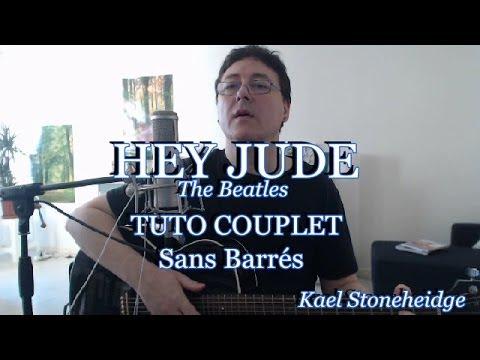 Hey Jude - Tuto 1/2 (sans Barrés) - Couplet (accords paroles) - Guitare Débutant - The Beatles