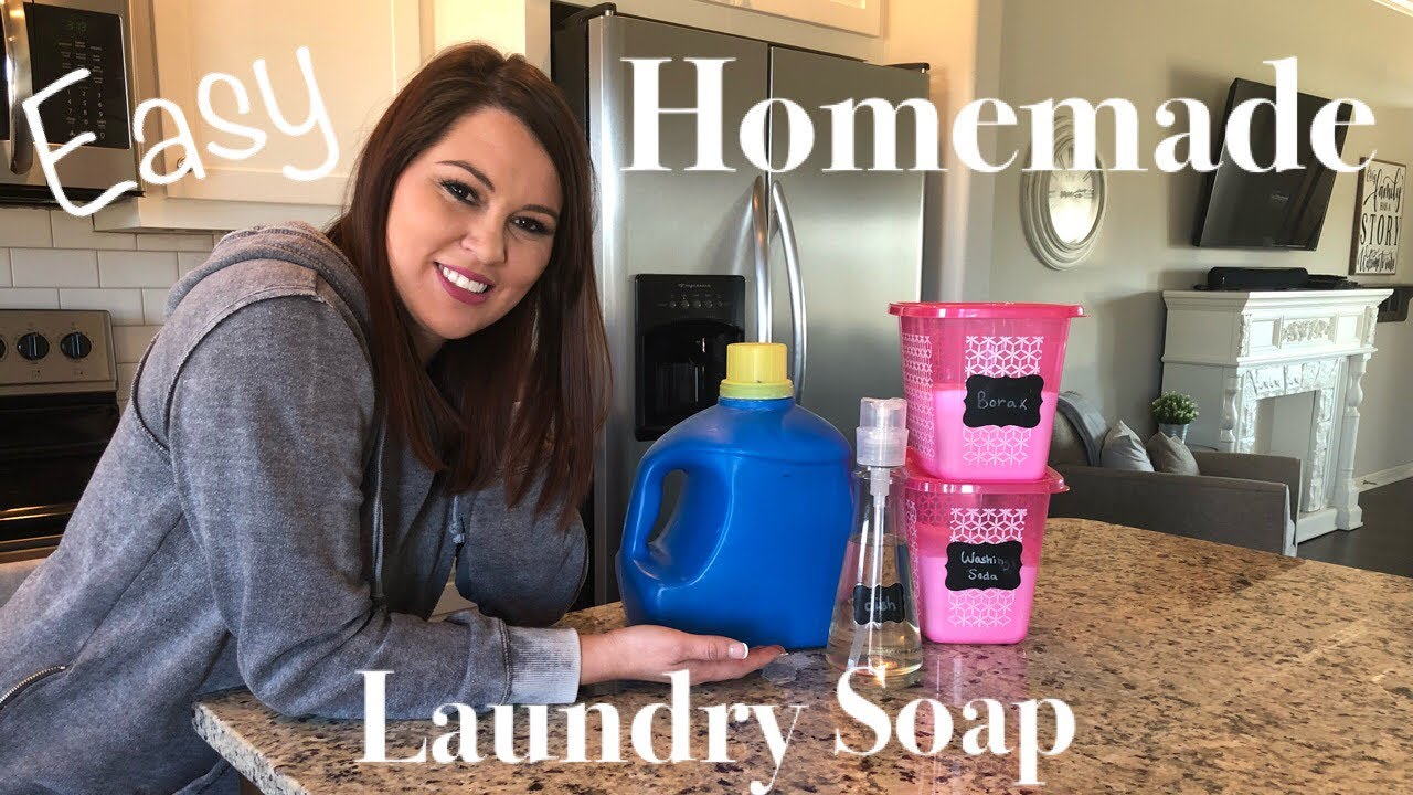 HOMEMADE LAUNDRY DETERGENT | QUICK