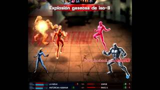Batalla Heroica - La Mole, Antorcha Humana & Mujer Invisible vs Vapor, Rayo X, Acorazado & Vector