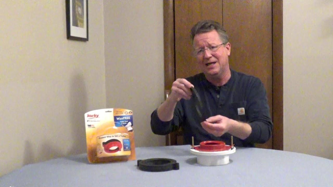 Wax Free Toilet Seal - Toilet Gasket - YouTube