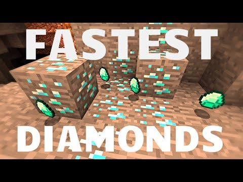 Fastest way to find Diamonds in Minecraft! NEW 2018! (Mining Guide)