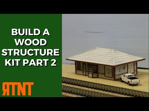 How to Build a Craftsman Wood Structure Kit Part 2  Modified Roof and Details