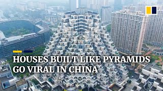 Houses built like pyramids go viral in China