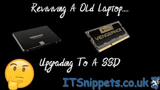 Reviving A Old Laptop Part 3...Upgrading To A SSD. (@ytcreator, @youtube)