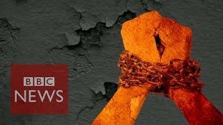 Human trafficking in 60 secs - BBC News