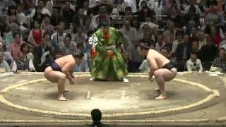 平成25年秋場所3日目 カロヤンがガブッてる sumo 大相撲.
