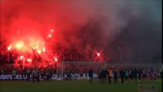 l'ambiance au match Guingamp-Toulouse au Roudourou lors de la saison 2013/2014