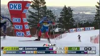 Биатлон первая победа Евгения Гараничева
