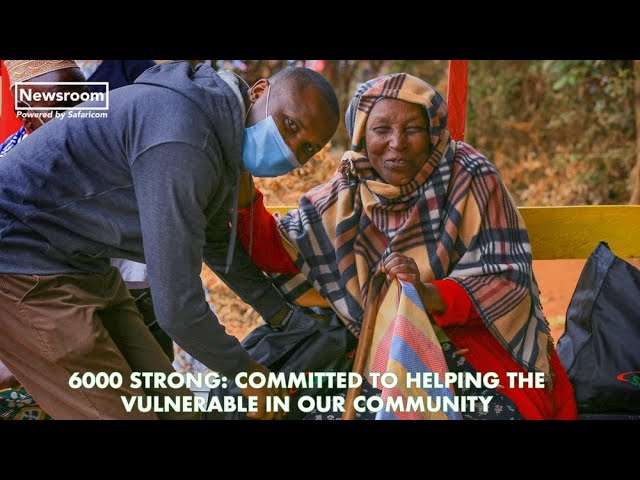 Safaricom staff rally for needy families