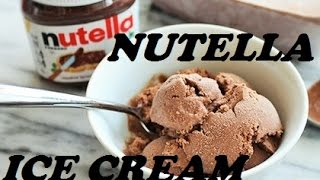 How To Make Nutella  Ice Cream Cake (2 Ingredients) Super Easy To Make