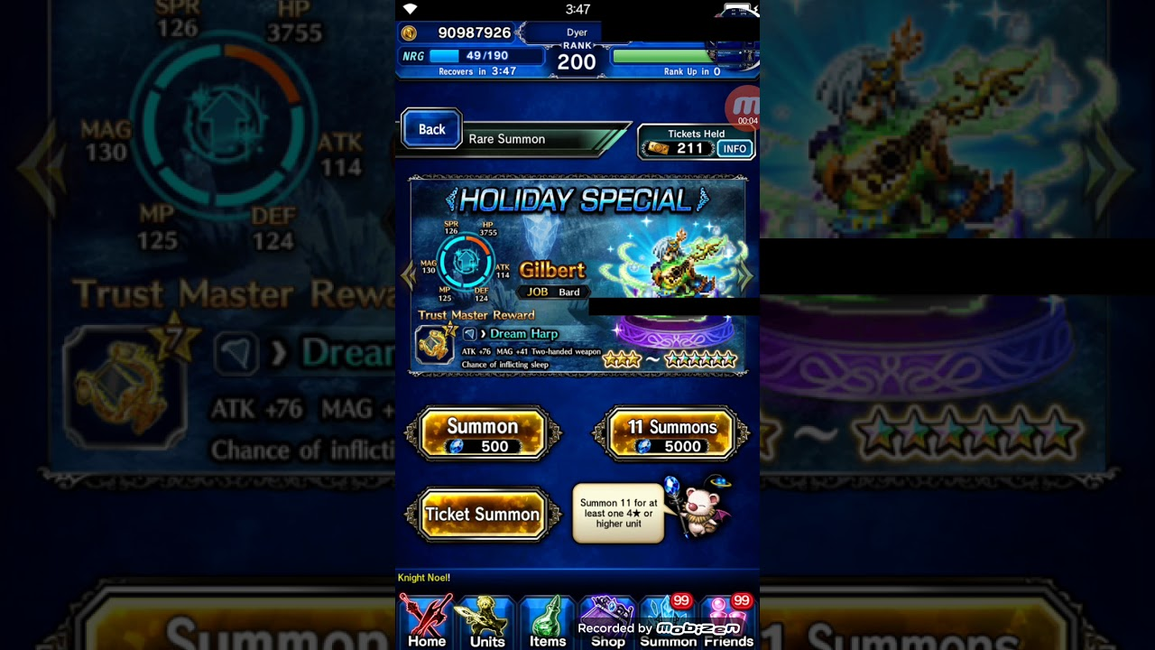 FFBE Final Fantasy Brave Exvius Holiday Special Banner Pulls