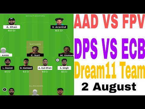 Фото Aad Vs Fpv Dream11 Team | Dps Vs Ecb Dream11 Team | Today Dream11 Team