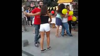 My 1st Bachata Dance (Street Performance) in Shardeni st./ Tbilisi