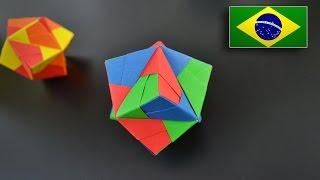Origami: Octaedro Estrelado (Sonobe 12 pçs) - Instruções em Português BR