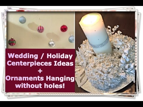 DIY Holiday Centerpieces + Ornament Hanging Tips!