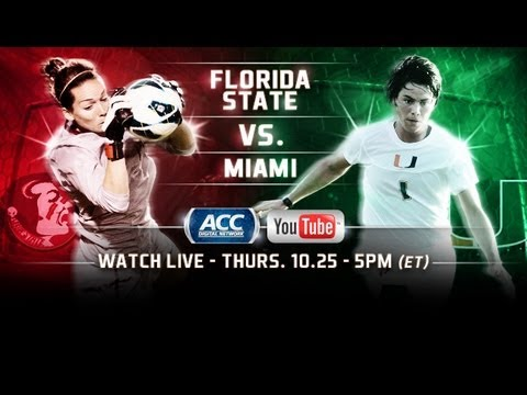 Live! ACC Women's Soccer: Florida State at Miami