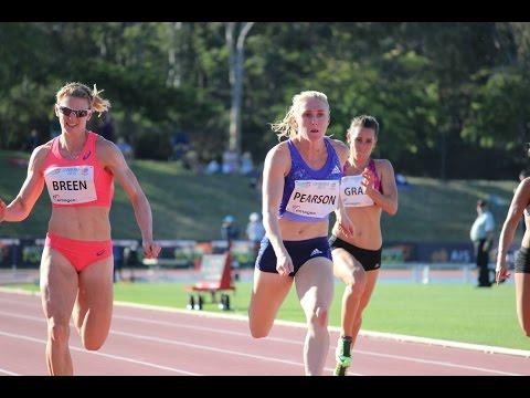 Women's 100m A Race - 2015 Canberra Track Classic