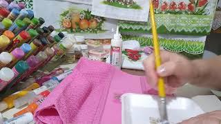 Como fazer a decoupagem de tecido em tecido