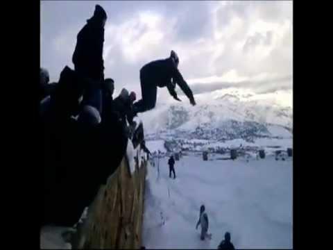 Crazy Algerians Diving in Snow
