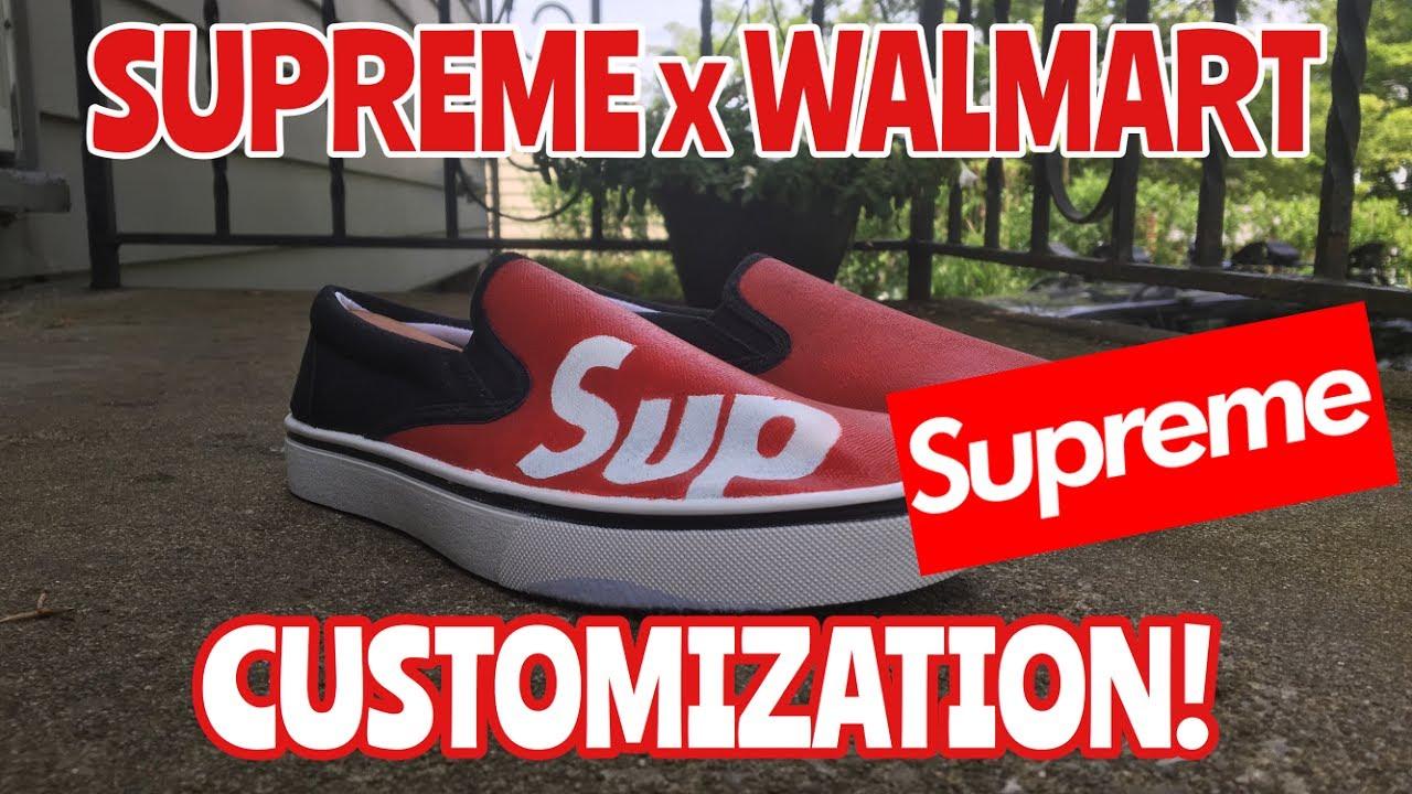 SUPREME X WALMART COLLAB CUSTOMIZATION! (Hypebeast Alert) - YouTube