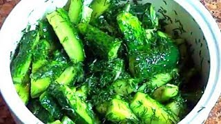 видео салат из огурцов