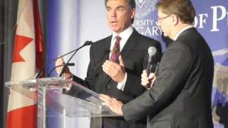 Jim Prentice on stage Q&A (Feb 1, 2010)