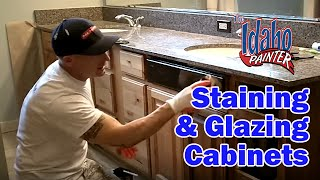 Using Glaze To Highlight Cabinets.  Tips Refinishing Or Painting Kitchen Cabinets.