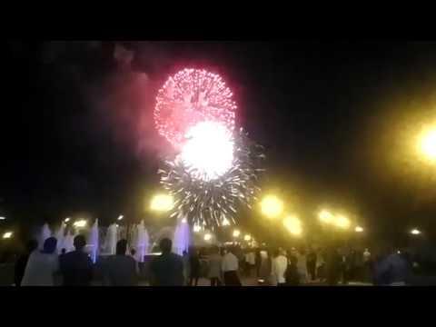 Фейерверк в Тюмени на День города