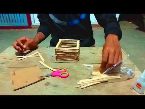Tutorial Cara Membuat Pot Bunga Dari Stik Es Cream Youtube