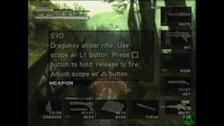 Metal Gear Solid 3: Subsistence PlayStation 2 Gameplay -